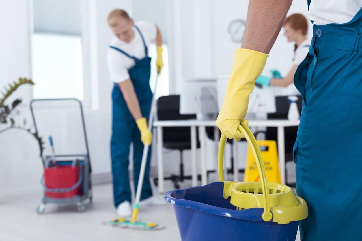 locaux en travaux entreprise de nettoyage
