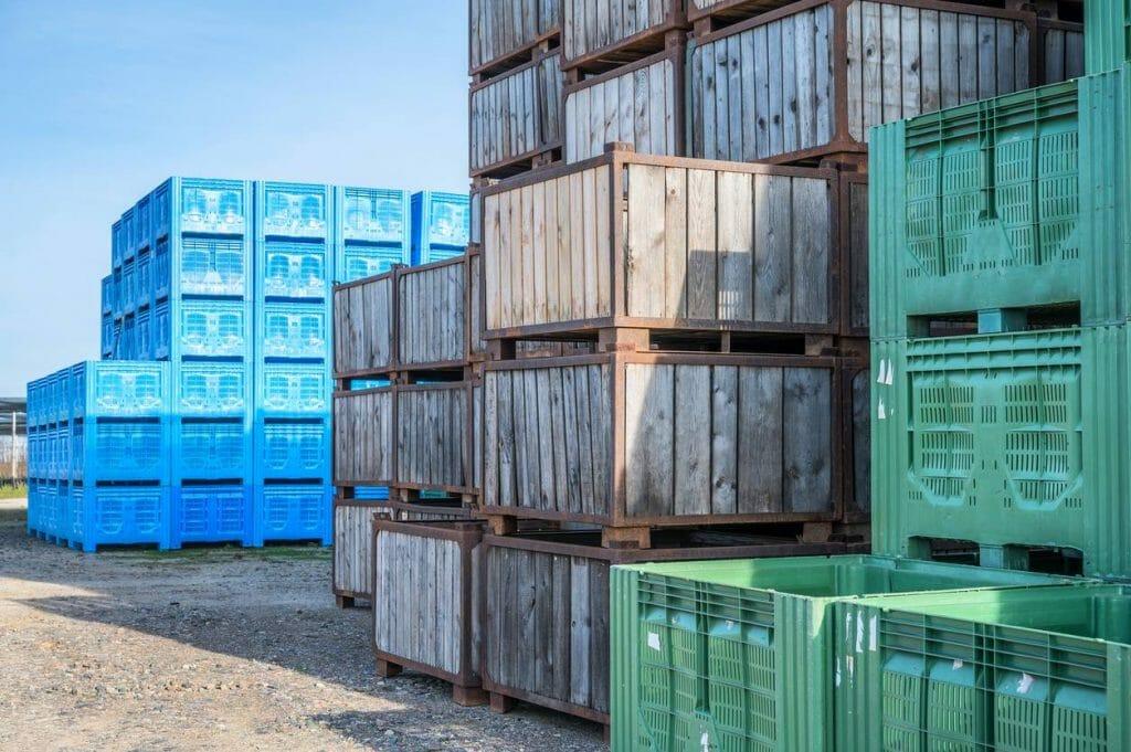 organisation entrepôt caisse palette plastique